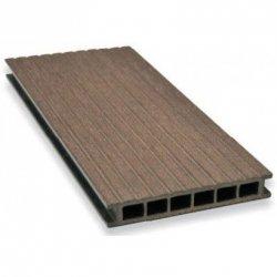 Deska tarasowa GAMRAT - kompozytowa ryflowana 25x160x4000 Ciemny brąz  Wersja N