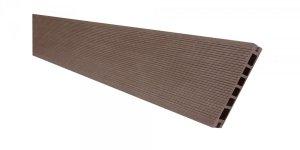 Deska tarasowa kompozytowa Viva ryflowana szczotkowana 24x145x2400mm ciemny brąz