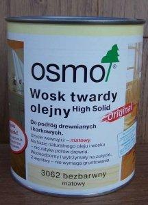 Osmo - Wosk Twardy Olejny - matowy 3062 - 0,75l