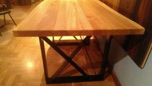 Stół lity dębowy + jesion 40x760x1490mm