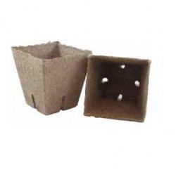 Doniczki torfowe JIFFY kwadratowe 8x8cm - 20szt.