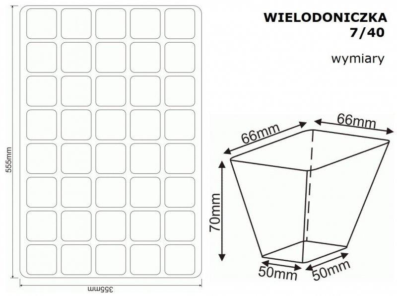 WIELODONICZKA 7/40 palety rozsadowe 60szt.