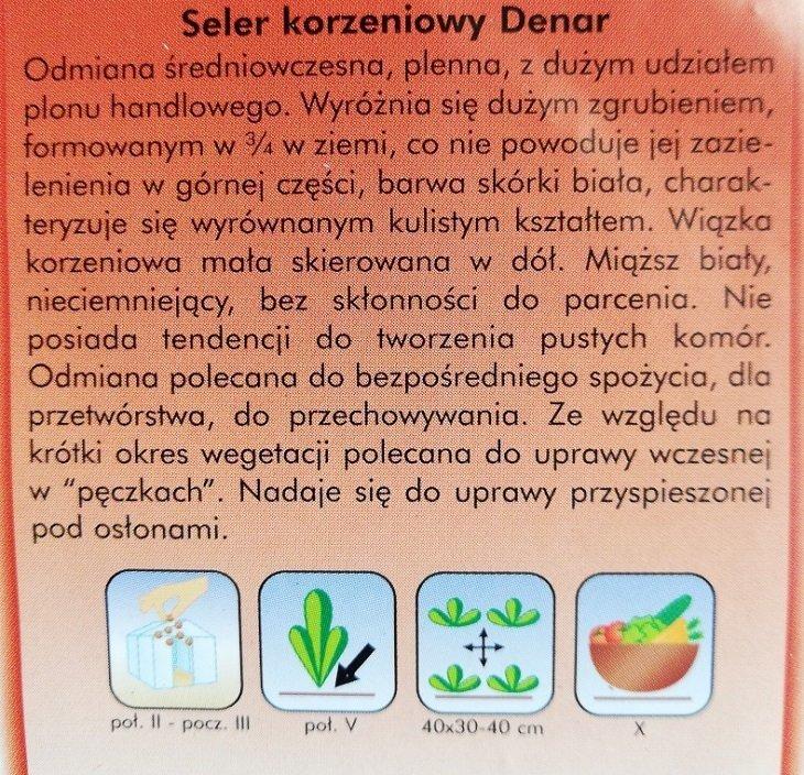 Seler korzeniowy DENAR opakowanie Plantico