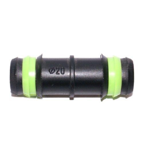 Przelot - złączka wciskana PCV do rur 20 mm zielony