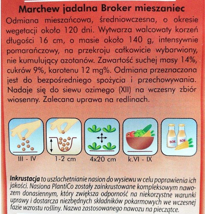 Marchew Broker opakowanie Plantico