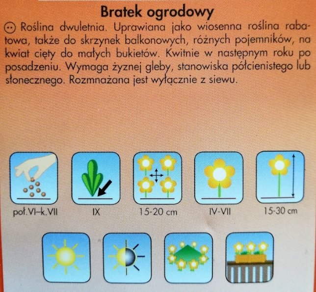 Bratek ogrodowy nasiona Plantico