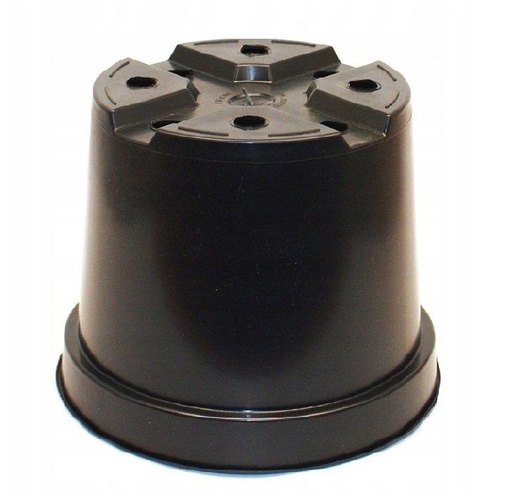 Doniczki produkcyjne okrągłe 3L CZARNE 19cm 100szt.
