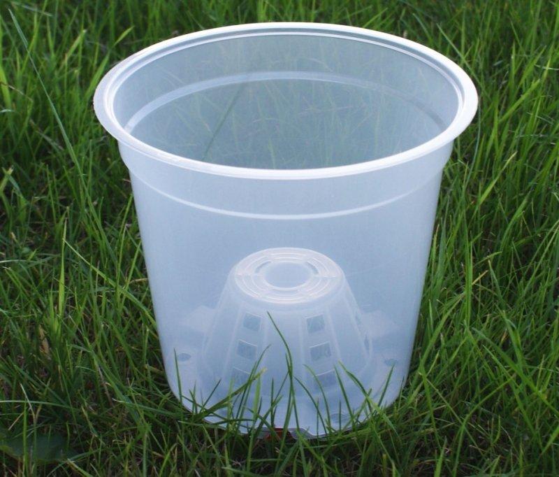 Doniczka do uprawy storczyka transparentna