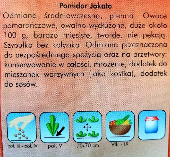 Pomidor Jokato nasiona Plantico