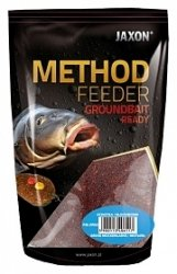 Jaxon Zanęta Method Feeder Ready 750g Halibut Czerwony