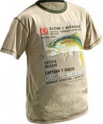 Dragon koszulka T-shirt PSTRĄG Sand XXL