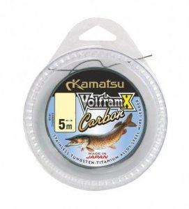 KAMATSU Przypony VolframX Carbon szpulka 5m/15kg