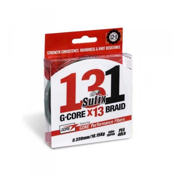 Sufix Plecionka 131 G-Core Braid 150m 0,128mm 13-splot Chartreuse