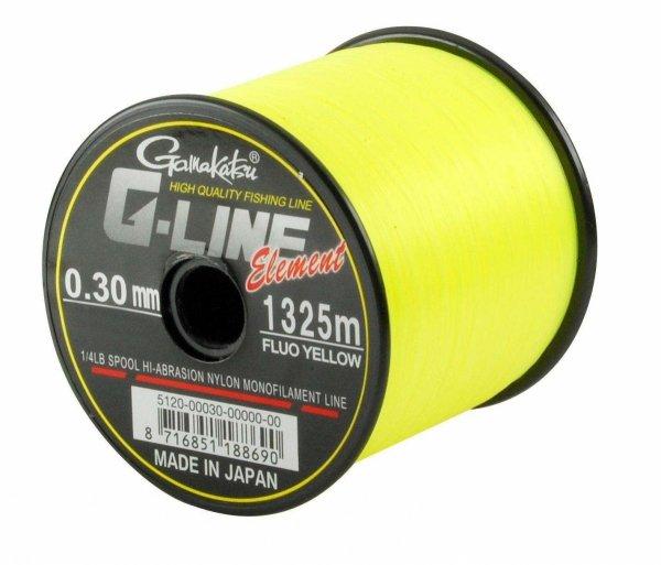 Gamakatsu Żyłka G-Line Element Fluo Yellow 0,30mm 1325m