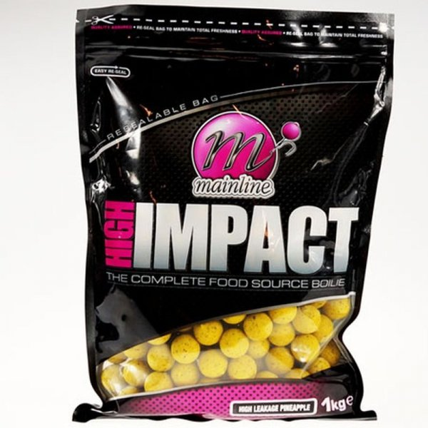 Mainline High Impact Boilies 15mm 1kg - High Leakage Pineapple