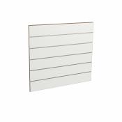 Panel sklepowy BIAŁY ze wsuwkami aluminiowymi 100 x 90 cm F15
