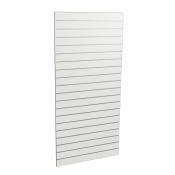 Panel sklepowy BIAŁY (pionowy) ze wsuwkami aluminiowymi 90 x 200 cm F10