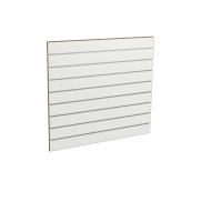 Panel sklepowy BIAŁY ze wsuwkami aluminiowymi 100 x 90 cm F10