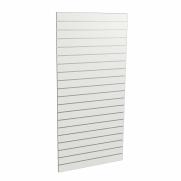 Panel sklepowy ALASKA - BIAŁY (pionowy) ze wsuwkami aluminiowymi 90 x 200 cm F10