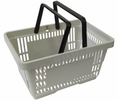 Shopping basket, 22 Liter grey