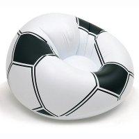 Dmuchany fotel kibica - piłka nożna