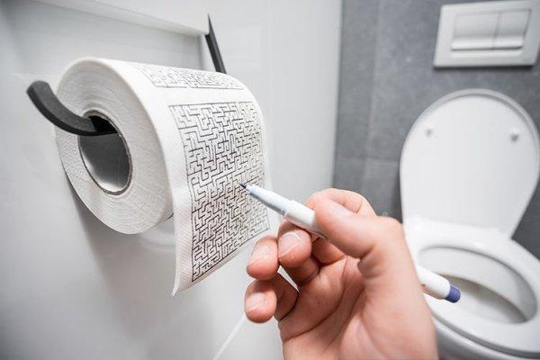 Papier toaletowy labirynt