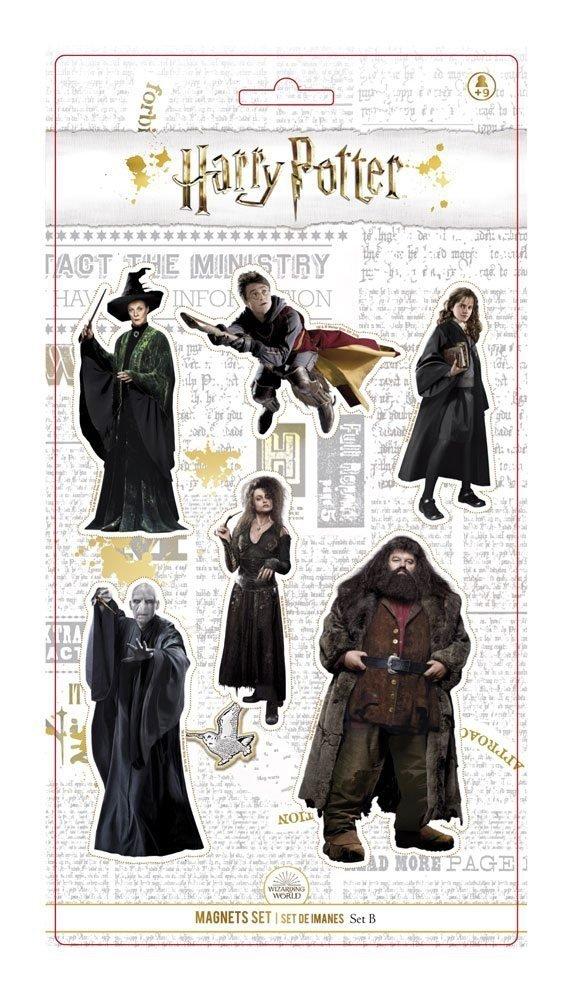 Harry Potter - Magnesy 6 szt. zestaw B