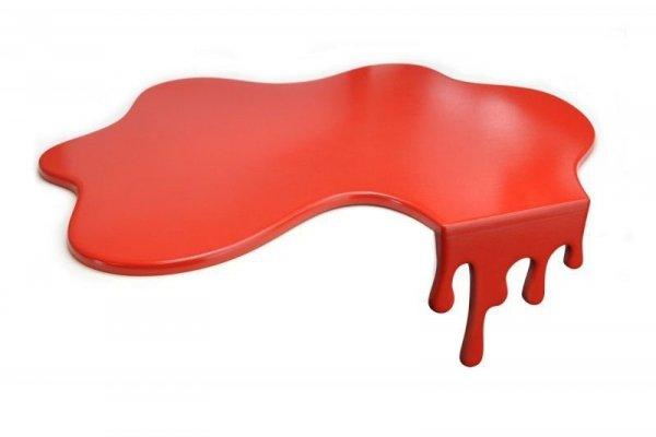 Rozlana deska - krwawa splash