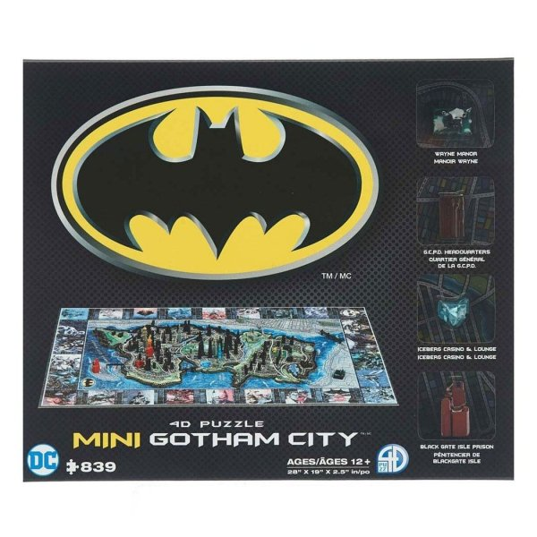 Batman - Puzzle 4D mini Gotham City 839 el.