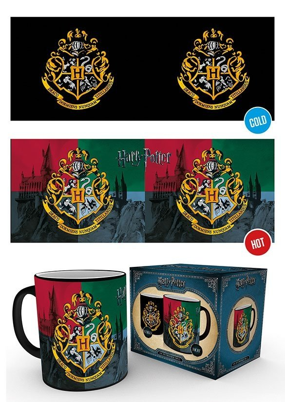 Harry Potter - kubek termoaktywny herb Hogwart