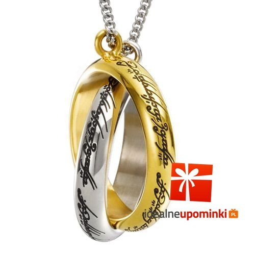 Naszyjnik z filmu Władca Pierścieni - podwójne pierścienie