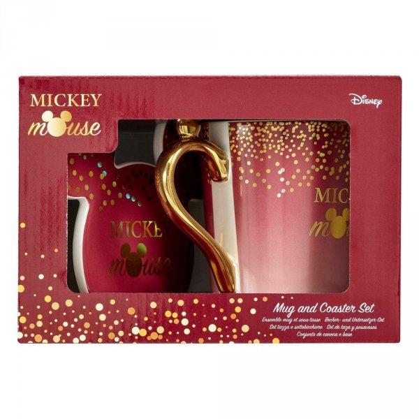 Myszka Miki - Kubek z podstawką berry glitter Disney