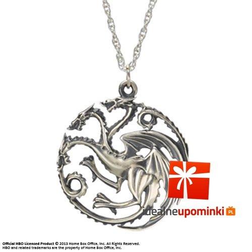 Gra o Tron - Targaryen - posrebrzany wisiorek i naszyjnik