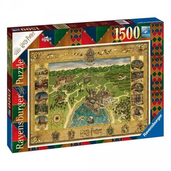 Harry Potter - Puzzle 1500 el. Mapa Hogwartu