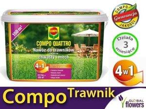 Quattro Nawóz do trawników. 4w1 Zwalcza chwasty i mech. 4,5 kg