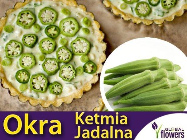 Okra, Ketmia jadalna 'Clemson Spineless' (Hibiscus esculentus) 1g