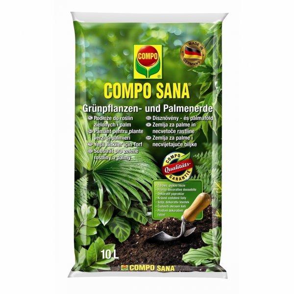 Ziemia COMPO SANA do roślin zielonych i palm 10L