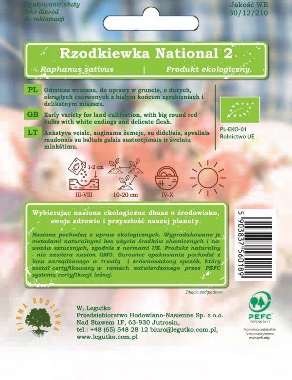 bio uprawa rzodkiewka national 2