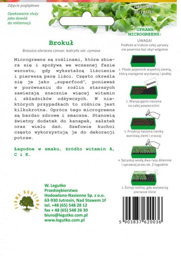 Microgreens Brokuł uprawa