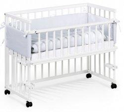 łóżeczko dostawka PICCOLO DUO  białe  KLUPŚ