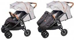 wózek bliżniaczy SPACEROWY 3 kolory ENZO TWIN Coletto