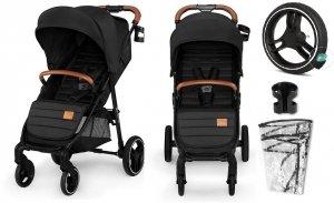 wózek spacerowy GRANDE 2020 koła żelowe Kinderkraft kolor CZARNY BLACK
