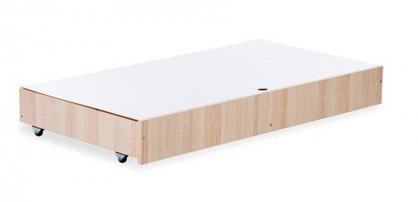 pojemnik  ( szuflada + przykrycie) do łóżeczka 120/60 kolor ECRU-JESION Klupś