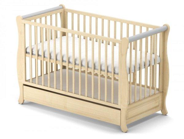 łóżeczko  GALA  SOSNA + szuflada 120/60 cm