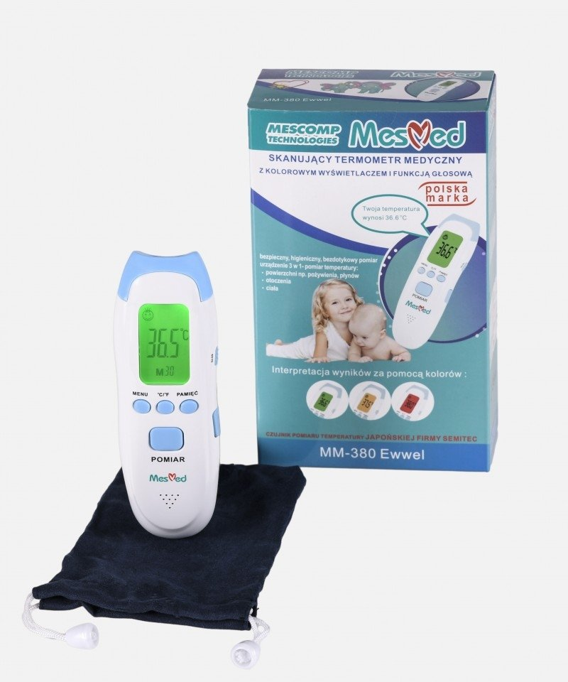 termometr bezdotykowy z atestem medycznym MesMed MM380 Ewwel