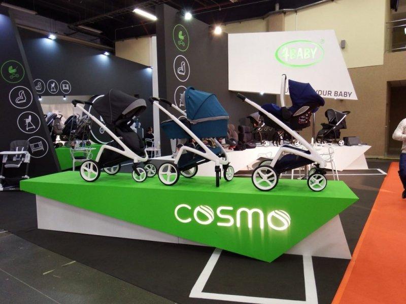 wózek uniwersalny COSMO 3w1  ( gondola+ spacerówka + gondola) 4 BABY