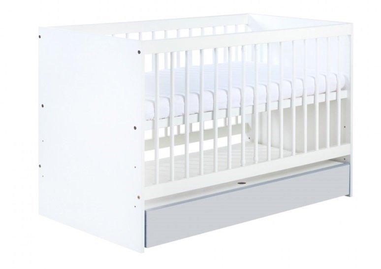 łóżeczko  DALIA GREY  z szufladą  120/60 ( opcja barierka boczna )  KLUPŚ