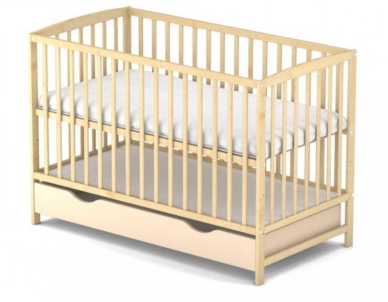 łóżeczko sosna  ARCO  120/60 cm + szuflada