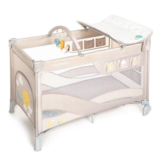 łóżeczko turystyczne  DREAM kolor BEIGE + przewijak , pałąk oraz torba BABY DESIGN