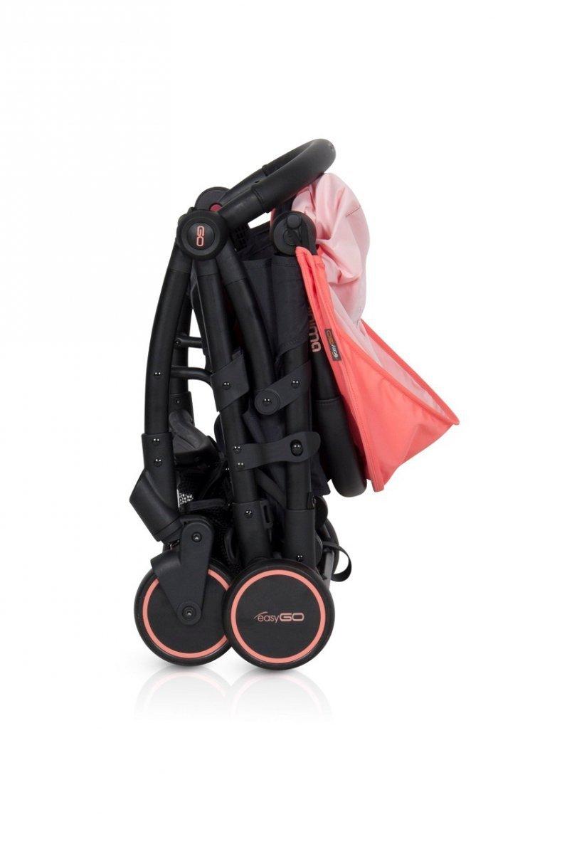 Wózek spacerowy MINIMA marki EasyGo tylko 6 kg+ pokrywka+pokrowiec transportowy+folia KOLOR GREY FOX